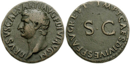 drusus roman coin as